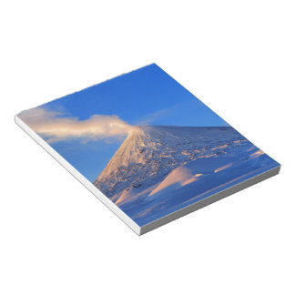 Kamchatka active Klyuchevskoy Volcano at sunrise Notepad
