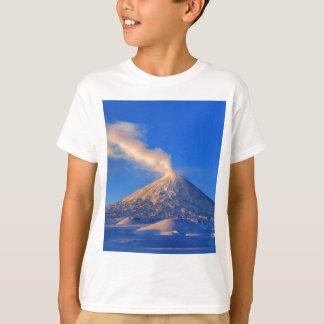 Kamchatka active Klyuchevskoy Volcano at sunrise T-Shirt