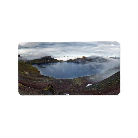 Kamchatka panorama view of crater lake of volcano
