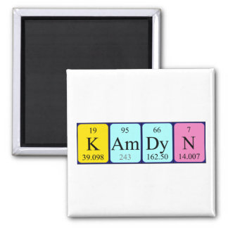 Kamdyn periodic table name magnet