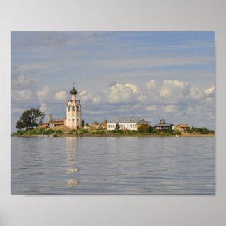 Kamenny Monastery Kubensky Lake Vologda Russia Poster