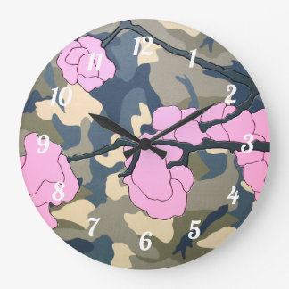 """Kamikaze"" by Axel Bottenberg Large Clock"