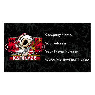 Kamikaze Skull With Japanese Sword Pack Of Standard Business Cards