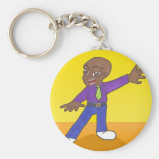 Kamil, an Anime Art Gallery Character Basic Round Button Keychain