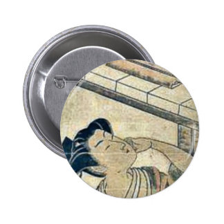 Kanadehon Chushingura by Isoda,Koryusai Pinback Buttons