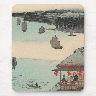 Kanagawa, Japan: Vintage Ukiyo-e Woodblock Print Mouse Pad