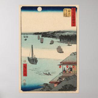 Kanagawa, Japan: Vintage Woodblock Print