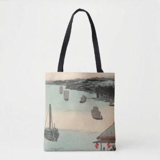 Kanagawa, Japan: Vintage Woodblock Print Tote Bag