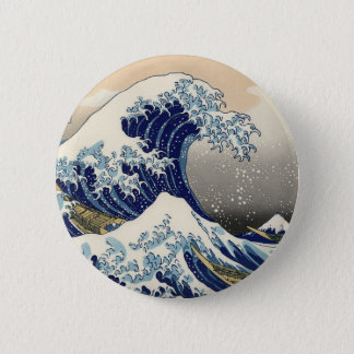 Kanagawa open sea 浪 reverse side 2 inch round button