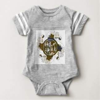 Kanagawa open sea 浪 reverse side baby bodysuit