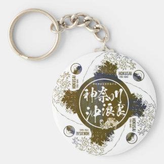 Kanagawa open sea 浪 reverse side keychain