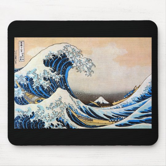 Kanagawa open sea 浪 reverse side, north 斎 mouse pad