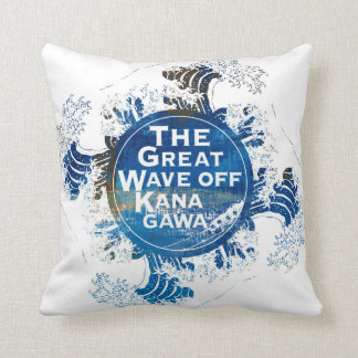Kanagawa open sea 浪 reverse side throw pillow