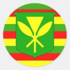 Kanaka Maoli Flag Classic Round Sticker