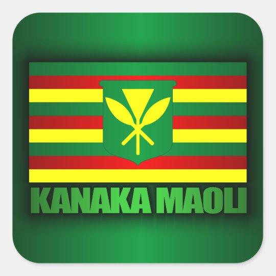 Kanaka Maoli Flag Square Sticker