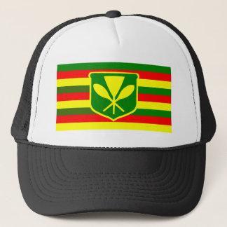 Kanaka Maoli - Native Hawaiian Flag Trucker Hat