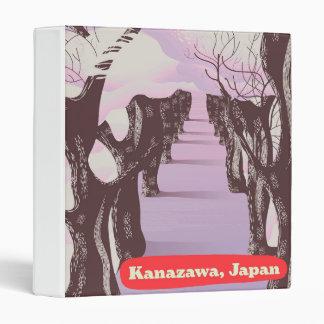 Kanazawa, Japan Blossom 3 Ring Binder
