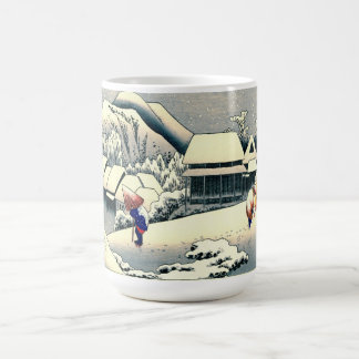 Kanbara Station Tokaido Road 1833 Coffee Mug
