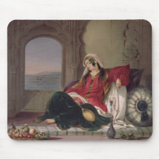Kandahar Lady of Rank, Engaged in Smoking, plate 2 Mouse Pad