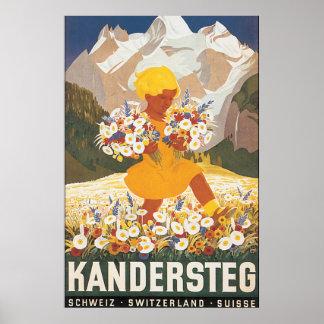 Kandersteg Switzerland Vintage Travel Poster