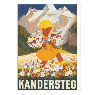 Kandersteg Switzerland Vintage Travel Poster Postcard