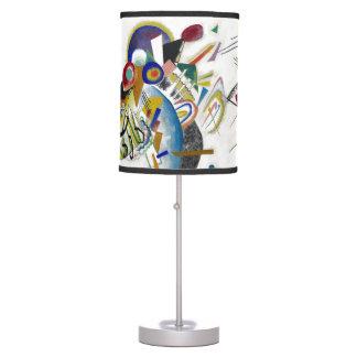 Kandinsky 1921, blue segments table lamp