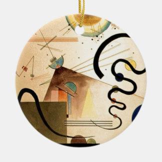 Kandinsky Abstract Round Ceramic Ornament
