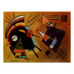 Kandinsky Black and Violet Poster