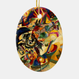 kandinsky - Composition VII Ceramic Oval Ornament