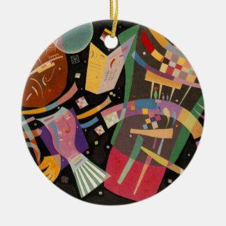 Kandinsky Composition X Abstract Artwork Round Ceramic Ornament
