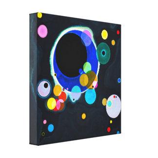 Kandinsky copie de toile de plusieurs cercles toiles tendues sur châssis