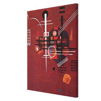 Kandinsky - Dull Red Canvas Print