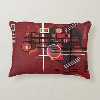 Kandinsky - Dull Red Decorative Pillow
