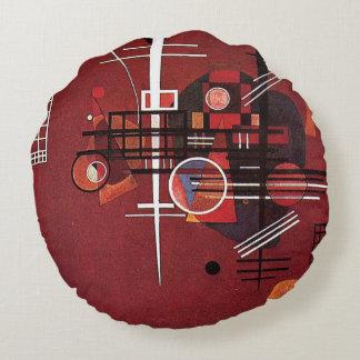 Kandinsky - Dull Red Round Pillow