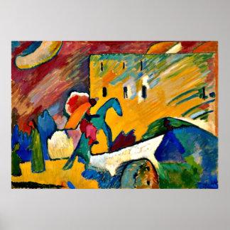 Kandinsky: Improvisation 3, landscape painting Poster