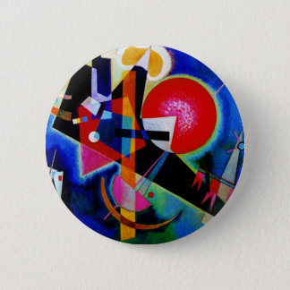 Kandinsky in Blue Abstract Painting 2 Inch Round Button