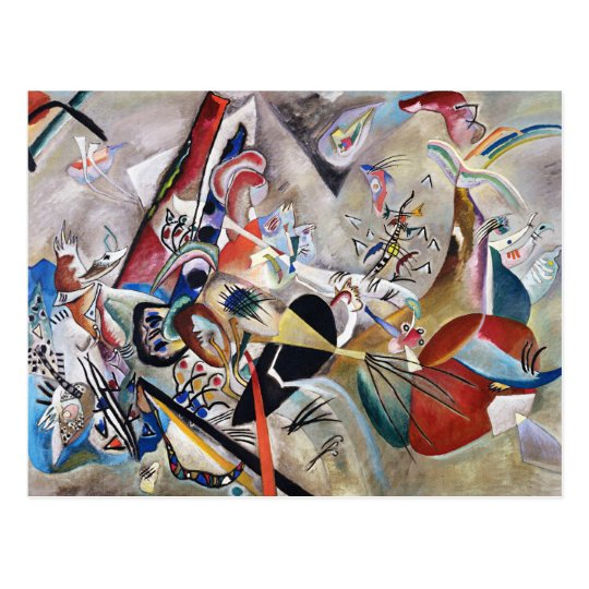 Kandinsky In Grey Postcard