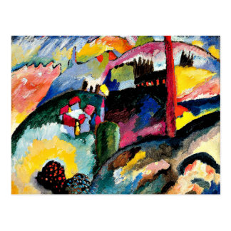Kandinsky - Landscape with Factory Chimney Postcard