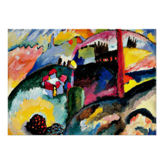 Kandinsky - Landscape with Factory Chimney Poster