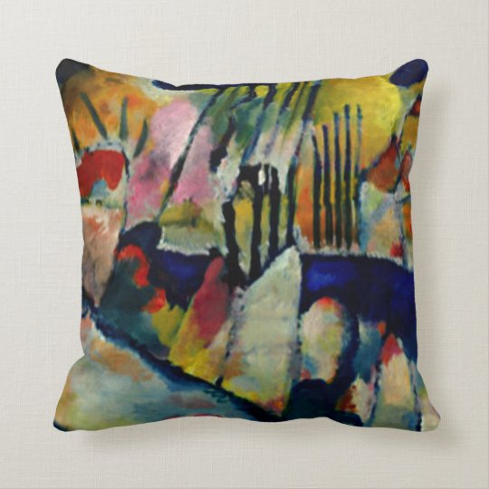 Kandinsky - Landscape with Rain Throw Pillow