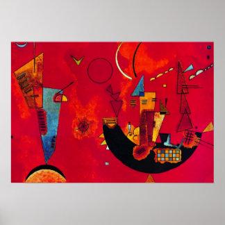 Kandinsky Mit und Gegen Abstract Painting Poster