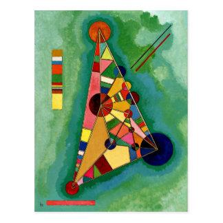 Kandinsky - Multicolored Triangle Postcard