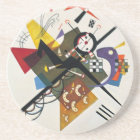 Kandinsky On White Two Abstract Painting Coaster