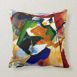 Kandinsky - Painting with Green Center Throw Pillow