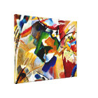 Kandinsky - Painting with Green Centre Canvas Print