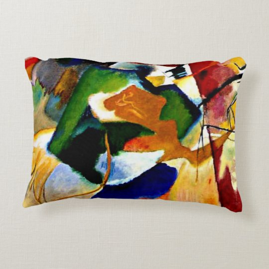 Kandinsky - Painting with Green Centre Decorative Pillow