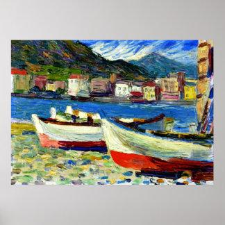 Kandinsky - Rapallo Boats Poster