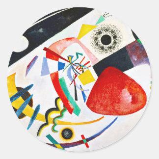 Kandinsky Red Spot Round Sticker