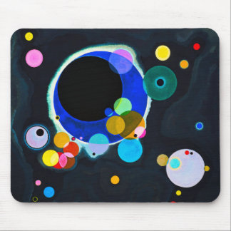 Kandinsky Several Circles Mouse Pad