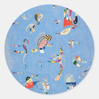 Kandinsky Sky Blue Stickers